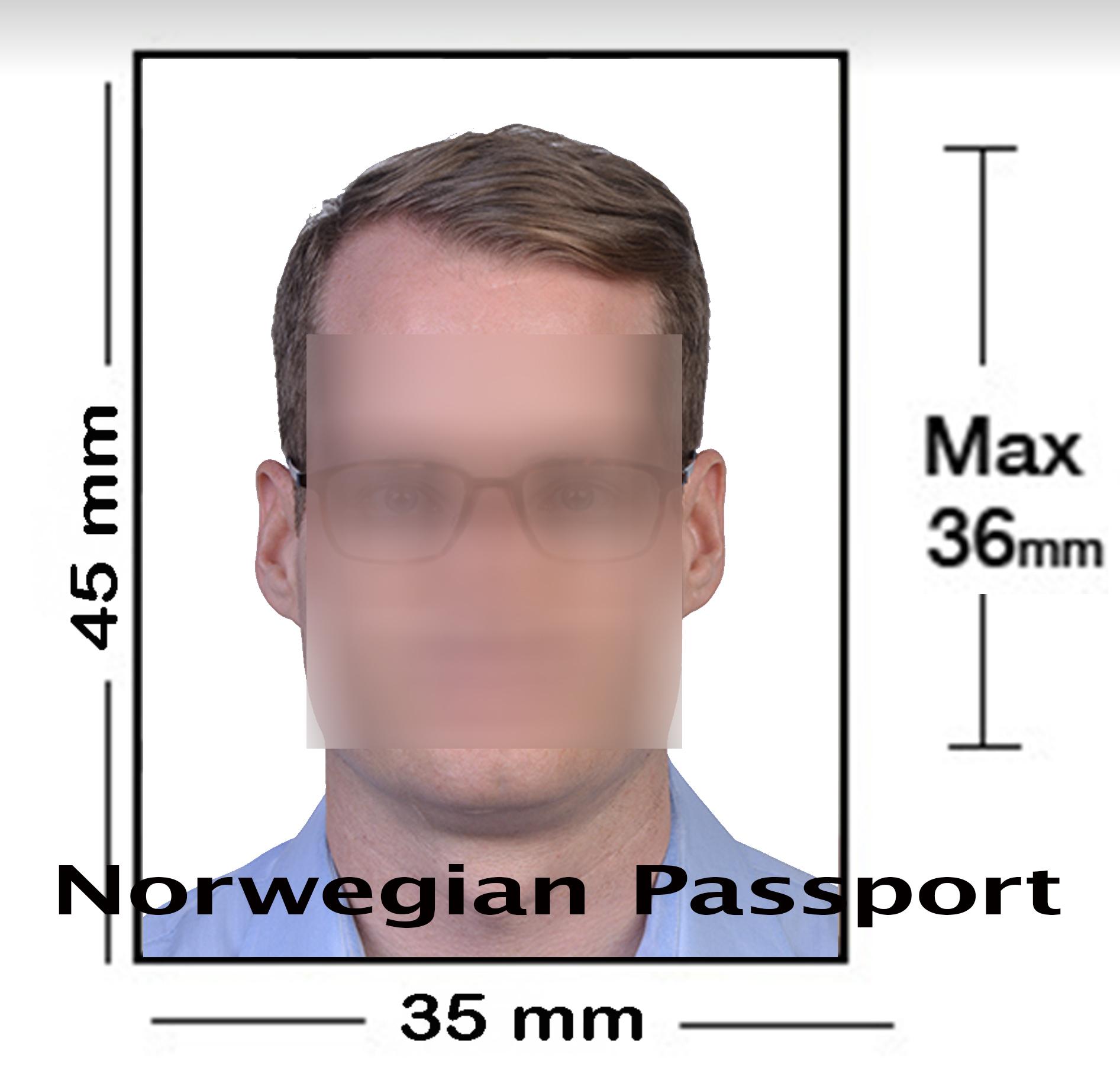 Norwegian Passport Photo NYC